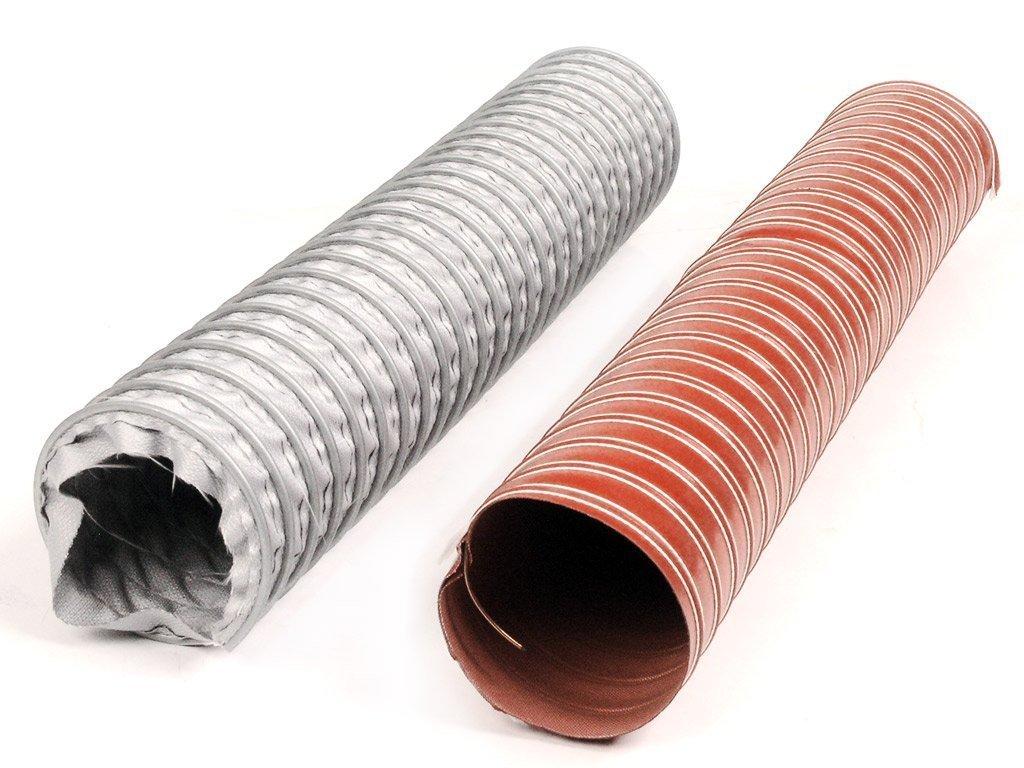 Węże odciągowe ze silikonu, odporne na wysoką temperature